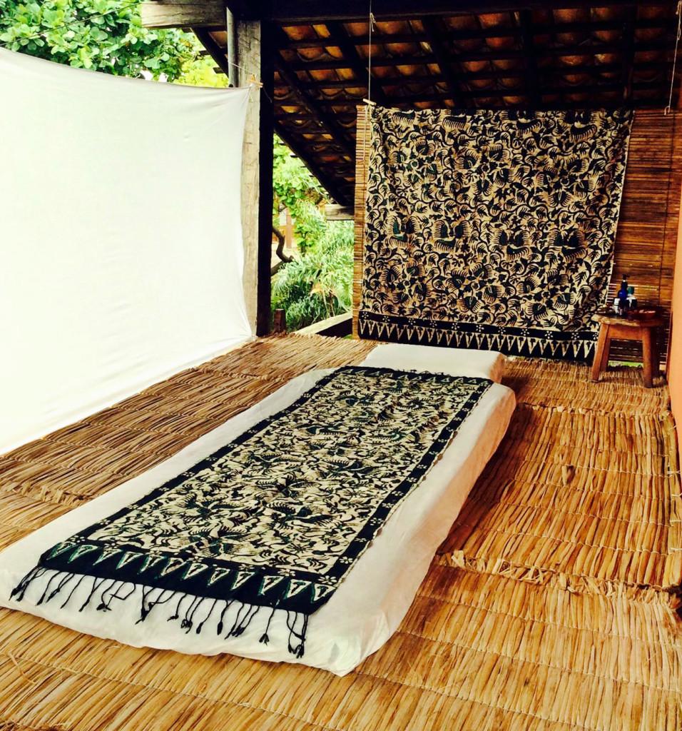 Espaço para massagem