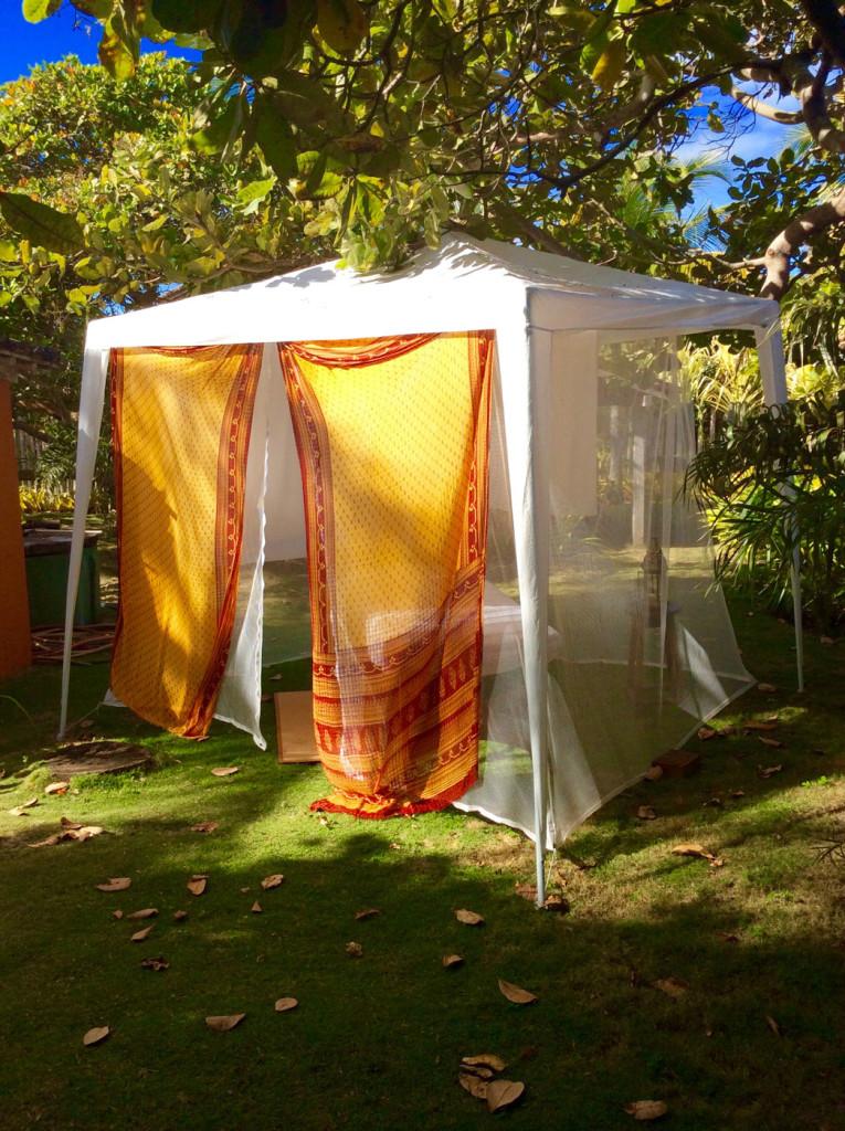 Tenda para massagem